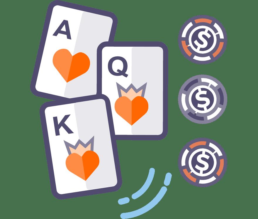 Spēlēt Trīs kāršu pokers Tiešsaistes -Top 43 Lielākie Laimesti Mobilais Kazinos 2021
